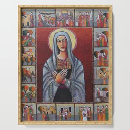Holy Family #1 By Nabil Anani Serving Tray