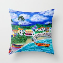 Afternoon in Puerto Rico Throw Pillow