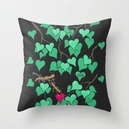 Sticking together Throw Pillow
