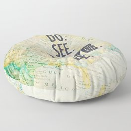 Do See Live Be - World Background Floor Pillow