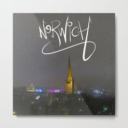 Norwich at Xmas Metal Print