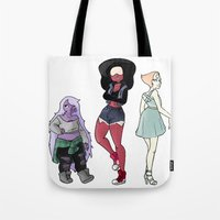 steven universe Tote Bags featuring Steven Universe by EmzieBee