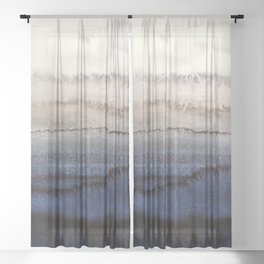 WITHIN THE TIDES WINTER BLUES by Monika Strigel Sheer Curtain