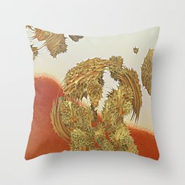 Spikey the hybrid cactus Throw Pillow