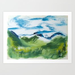 Landscape Fresh and Vibrant oil on paper by CheyAnne Sexton Art Print