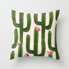 Happy Cacti #society6 #decor #buyart Throw Pillow