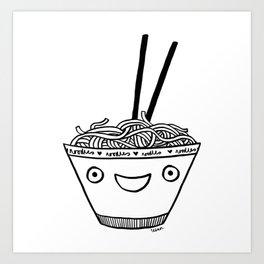 Happy Noodles Art Print