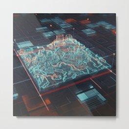 UI //001 Metal Print