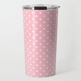 Dots (White/Pink) Travel Mug