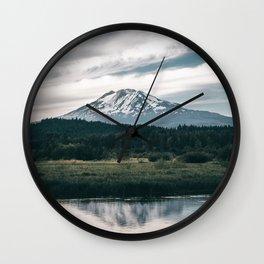 Mount Adams Reflections Wall Clock