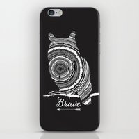 be brave iPhone & iPod Skins featuring brave by Vickn