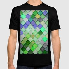 PRETTY - green palette MEDIUM Black Mens Fitted Tee
