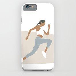 Running woman iPhone Case