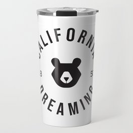 California Dreaming Minimalist Bear Travel Mug