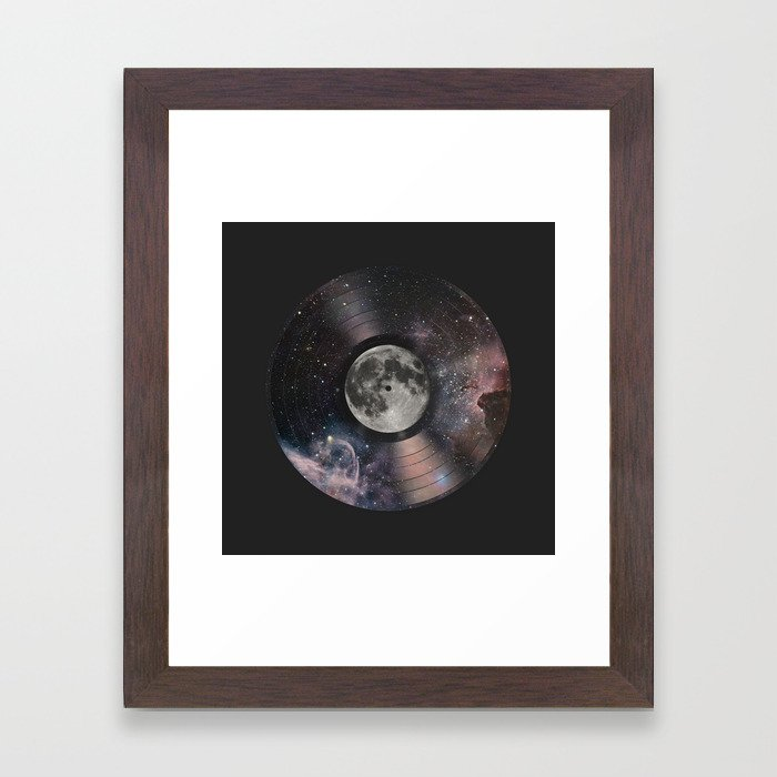 L.P. (Lunar Phonograph) Framed Art Print
