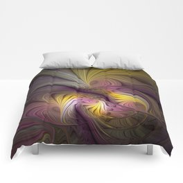 Unity, Abstract Colorful Fractal Art Comforters