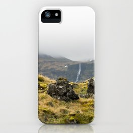 Lava Rocks and Waterfall iPhone Case