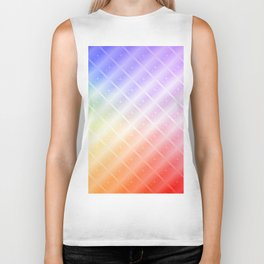Colorful Lines and Stars Biker Tank