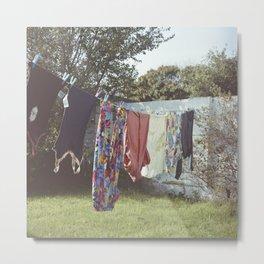 Clothes Line Metal Print