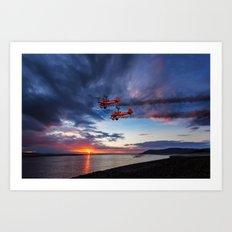 Breitling Wingwalkers Sunset Art Print