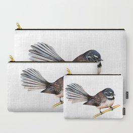 New Zealand Fantail Carry-All Pouch