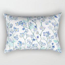 forget-me-not Rectangular Pillow
