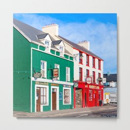 Walking The Colorful Streets Of Dingle Ireland Metal Print