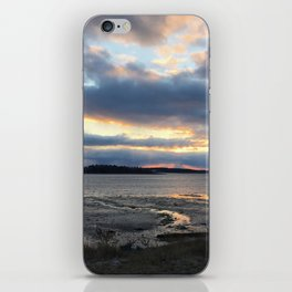 Perfect Sunset over Half Moon Cove iPhone Skin