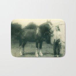 A Girl and her 4-H Horse 1943 Bath Mat