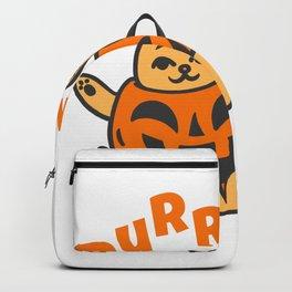 Halloween Cat Pumpkin or Purrmpkin Backpack