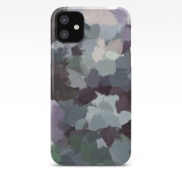 Dark Green Lilac Purple Gray Black Abstract Wall Art, Painting Art, Modern Wall Art iPhone Case