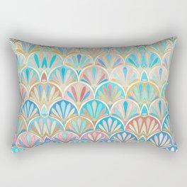Vintage Twenties Art Deco Pastel Pattern Rectangular Pillow