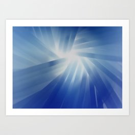Blue Streaks of Light Art Print
