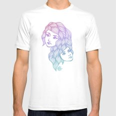 Two Heads are Better Than One MEDIUM White Mens Fitted Tee