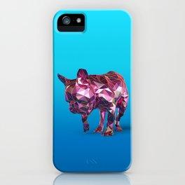 Blue French Bulldog iPhone Case