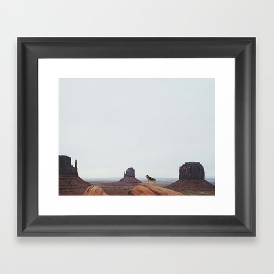 Monument Dog Framed Art Print