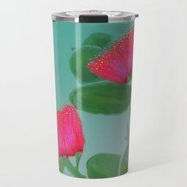 Hawaii Red Lehua Blossom Travel Mug