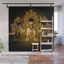 Anubis, the egyptian god Wall Mural
