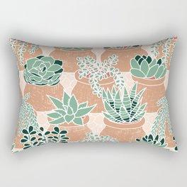 Succulent's Tiny Pots Rectangular Pillow