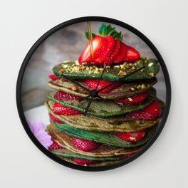 pancakes #society6 #decor #buyart Wall Clock