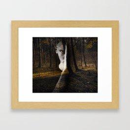 Portrait in the forest Framed Art Print
