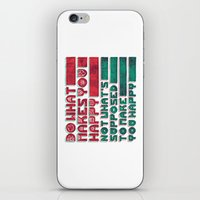 be happy iPhone & iPod Skins featuring Happy by Hector Mansilla