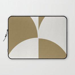 Diamond Series Round Checkers White on Gold Laptop Sleeve