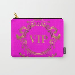 VIP in Hot Pink and Goldtones Carry-All Pouch