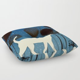 THE POETRY OF A NIGHT by Raphaël Vavasseur Floor Pillow
