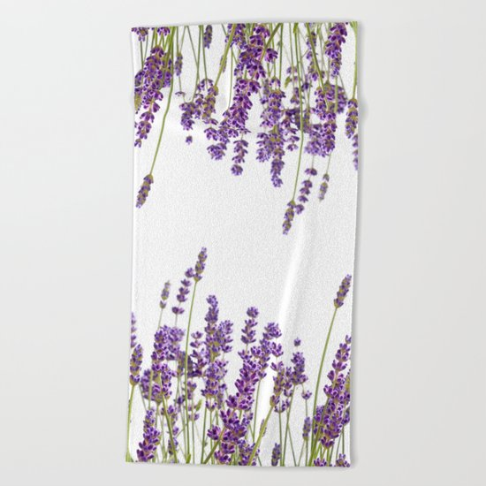 Purple Lavender #2 #decor #art #society6 Beach Towel