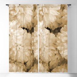 Monochrome Abstract Mums Blackout Curtain