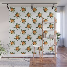 Blooming Citrus Watercolor Wall Mural
