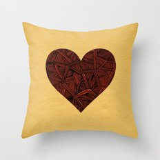- heart line - Throw Pillow