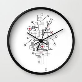 Doodle-2 of 3 Wall Clock
